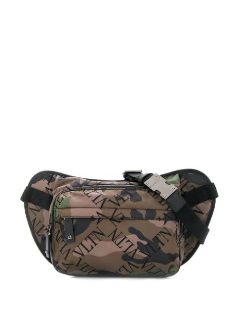 Valentino Garavani Vltn Camouflage Belt Bag In Green