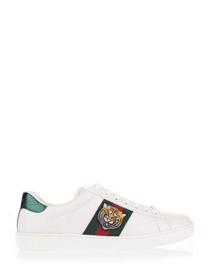 33287ade062 Gucci Sneakers New Ace Con Tigre In White