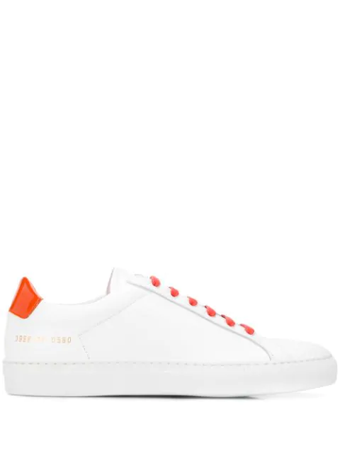 Common Projects Fluorescent Achilles Low Sneakers In White