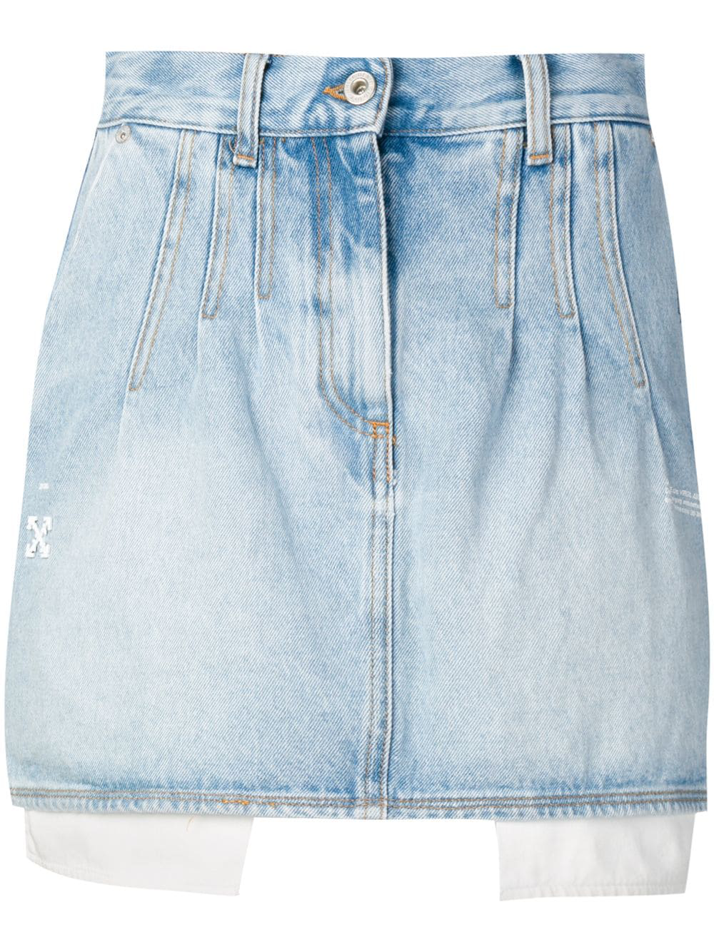 a45b25dc3cb3 Bleach Denim Mini Skirt in Blue