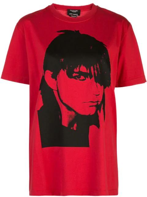 Calvin Klein Graphic T In Red