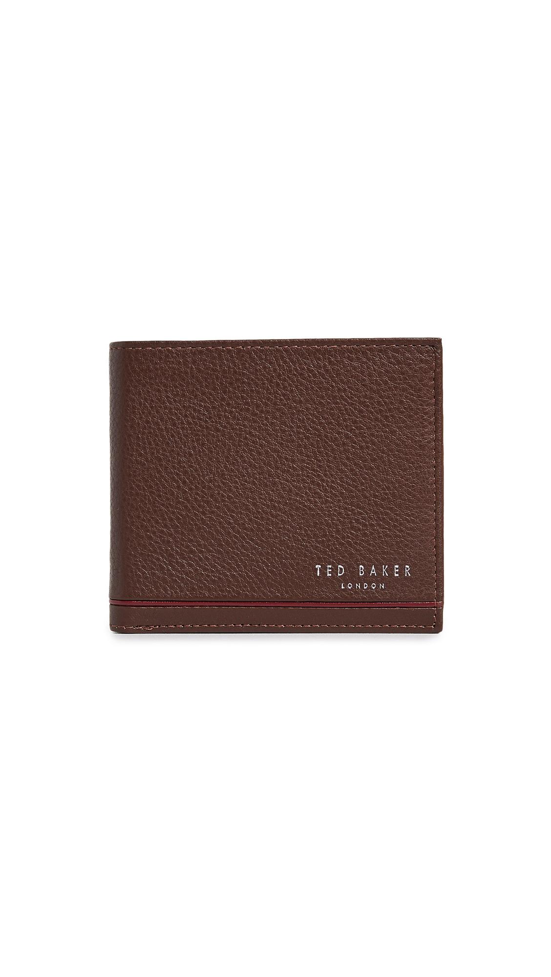 f82a4d9c517 Ted Baker Stripe Detail Bifold Wallet In Tan   ModeSens