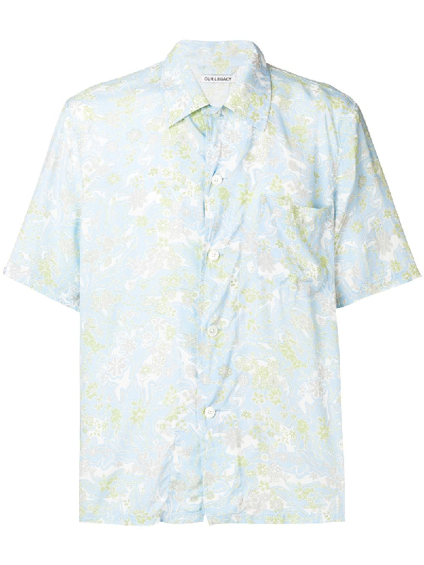 63ece647 Our Legacy Box Short Sleeve Shirt In Light Plant | ModeSens