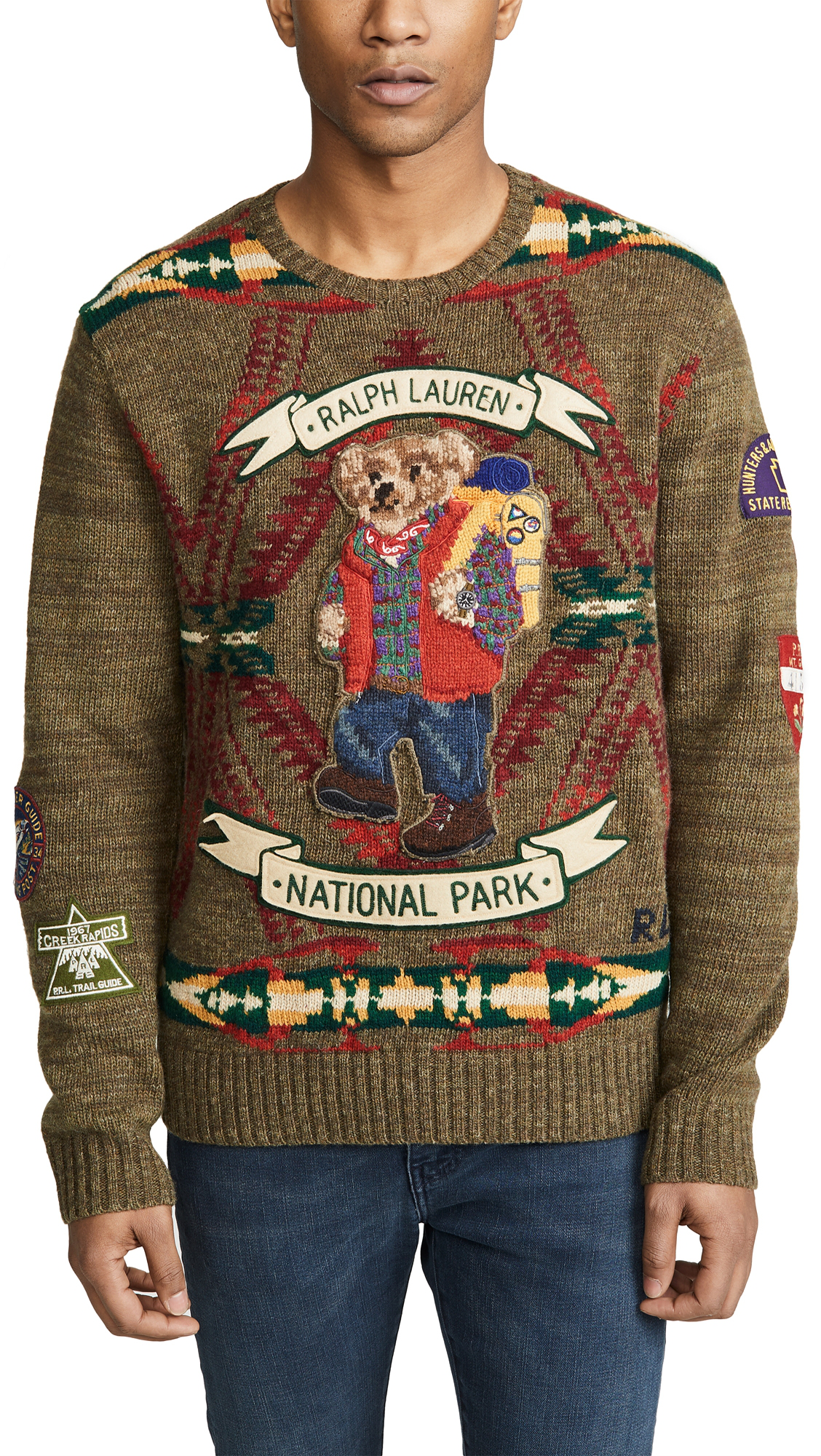 02bf790ce Polo Ralph Lauren Hiking Bear Wool Sweater In Beacon