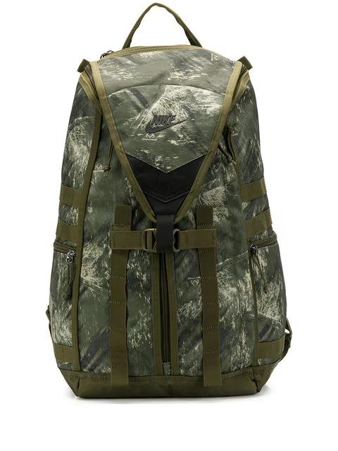 Nike Camouflage Print Backpack In Green
