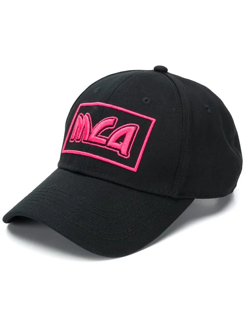 Mcq By Alexander Mcqueen Logo Embroidered Baseball Cap In Black