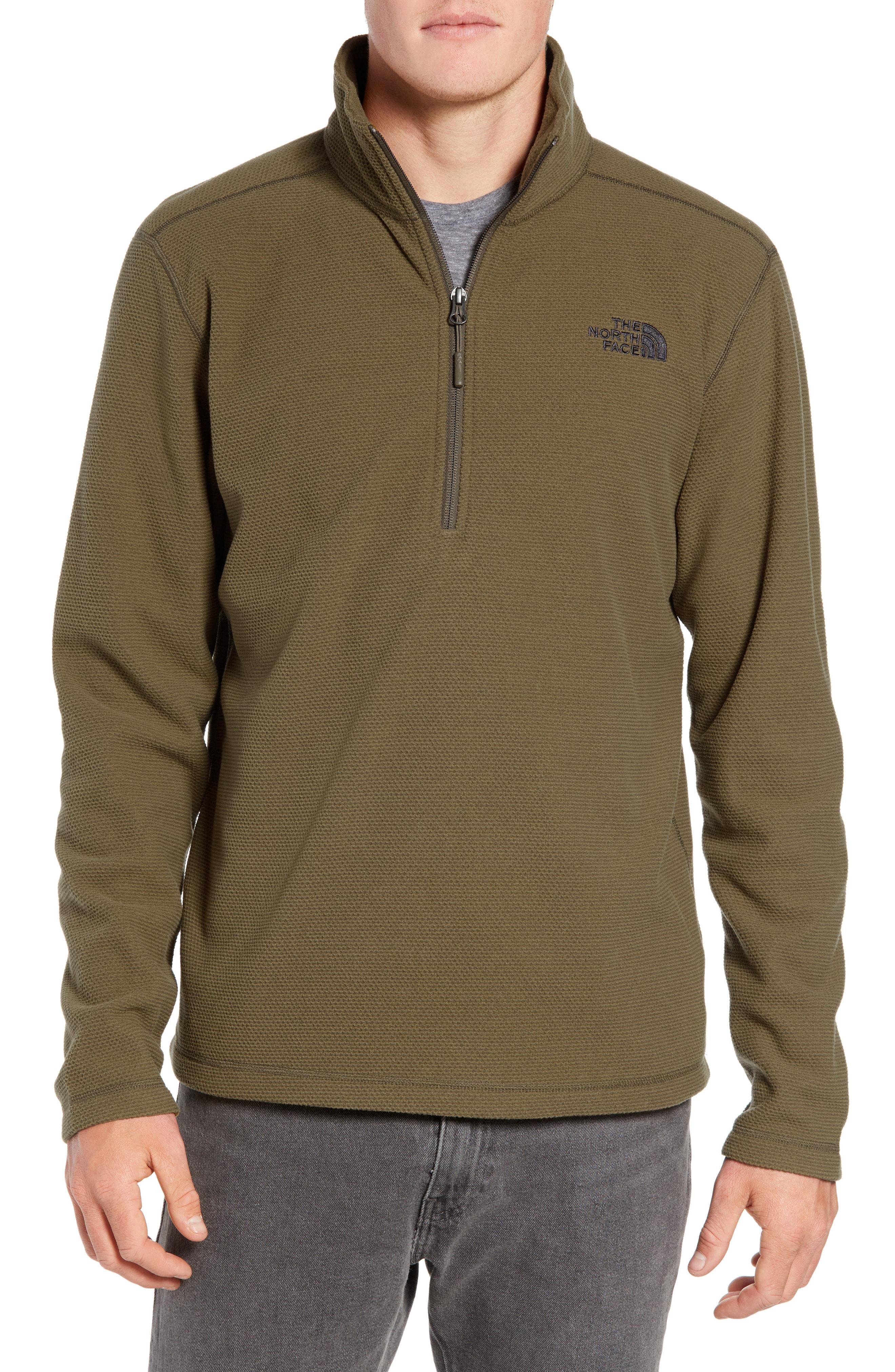 fe8dfe99a The North Face Texture Cap Rock Quarter Zip Fleece Jacket In Granite ...