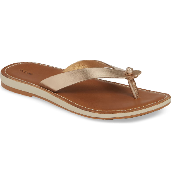 Olukai Nohie Flip Flop In Bubbly/ Tan Leather