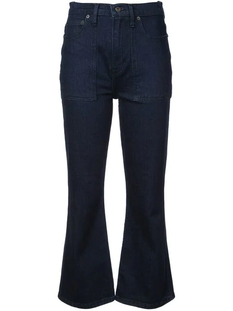 Proenza Schouler Pswl Flared Jeans In Blue