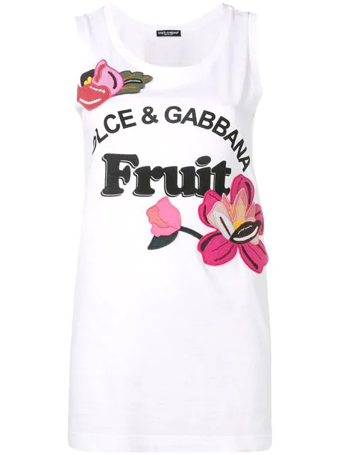 Dolce & Gabbana Printed Cotton T-Shirt In White