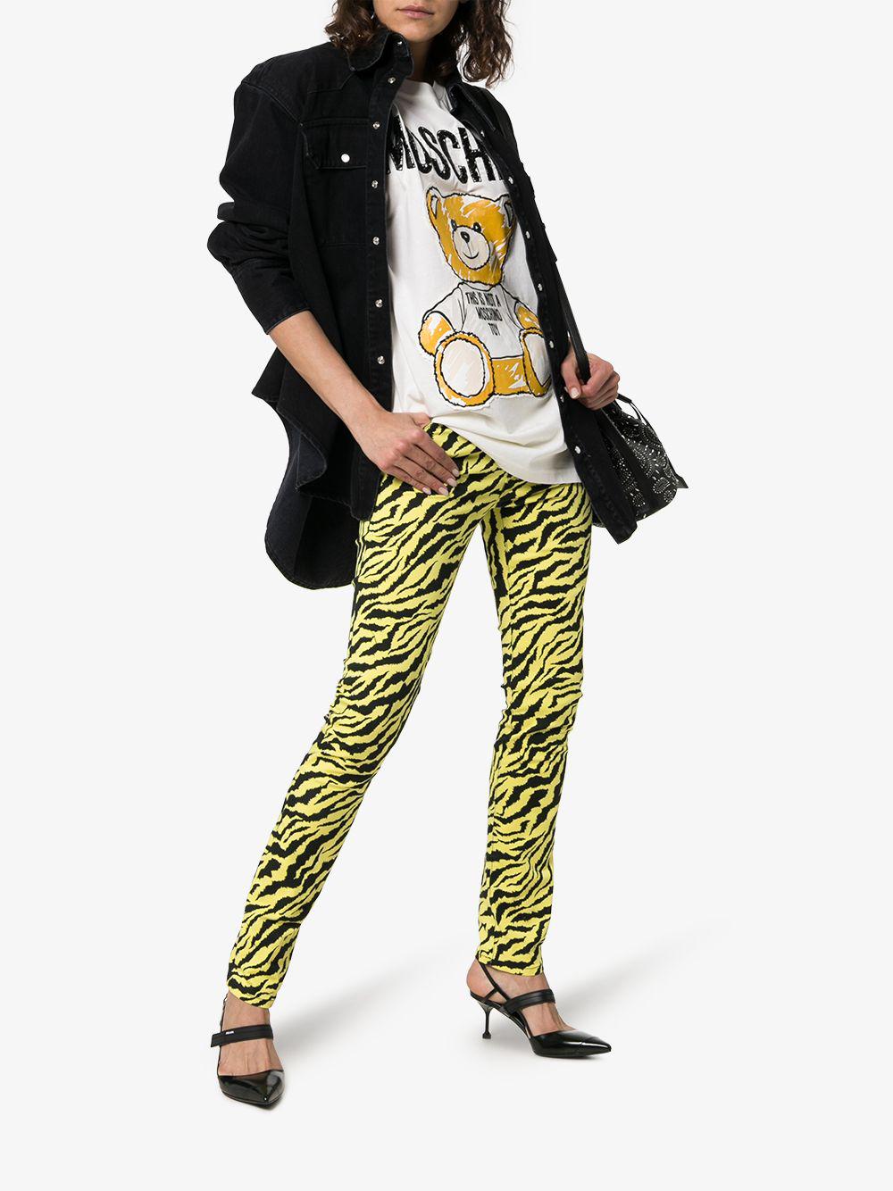 f8b146b047af6 Moschino Teddy Bear Logo T-Shirt In 6002 White | ModeSens