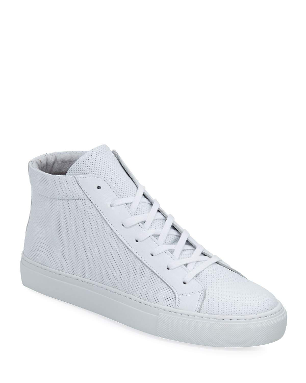 6878d1fe5a0 Supply Lab Men's Deacon High-Top Leather Sneakers In White | ModeSens