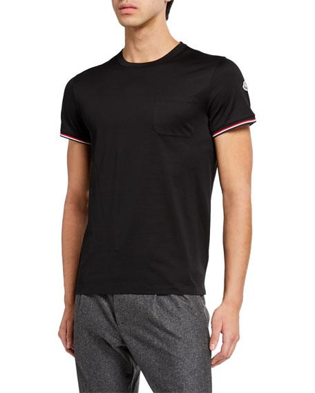 644293f54 Moncler Men's Tricolor-Trim T-Shirt In Black | ModeSens