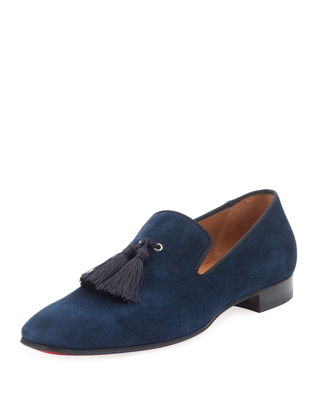 wholesale dealer c2c6f 75fe9 Men's Velour Suede Tassel Loafers in Blue