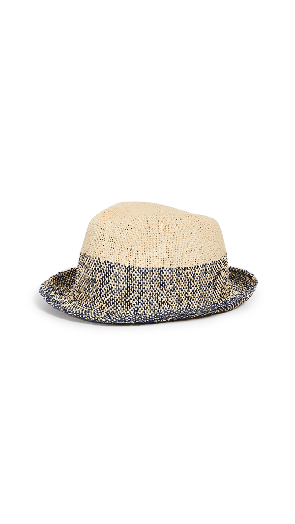 c34a29aa8 Men's Two-Tone Straw Trilby Hat in Blue Multi
