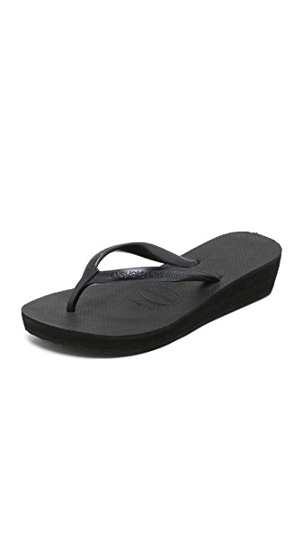 5baf08095 Havaianas High Fashion Wedge Flip Flops In Black
