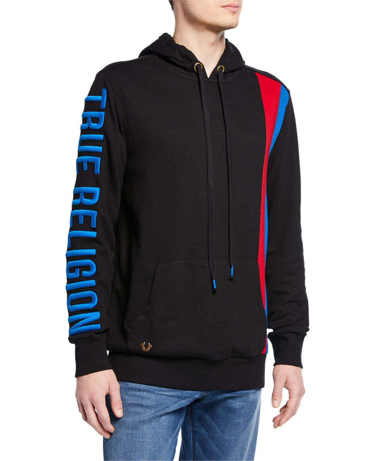 6b352a43b True Religion Men s Logo-Embroidered Pullover Hoodie In Black