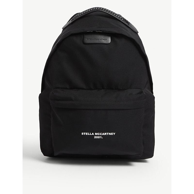 stella mccartney falabella logoprint nylon backpack in