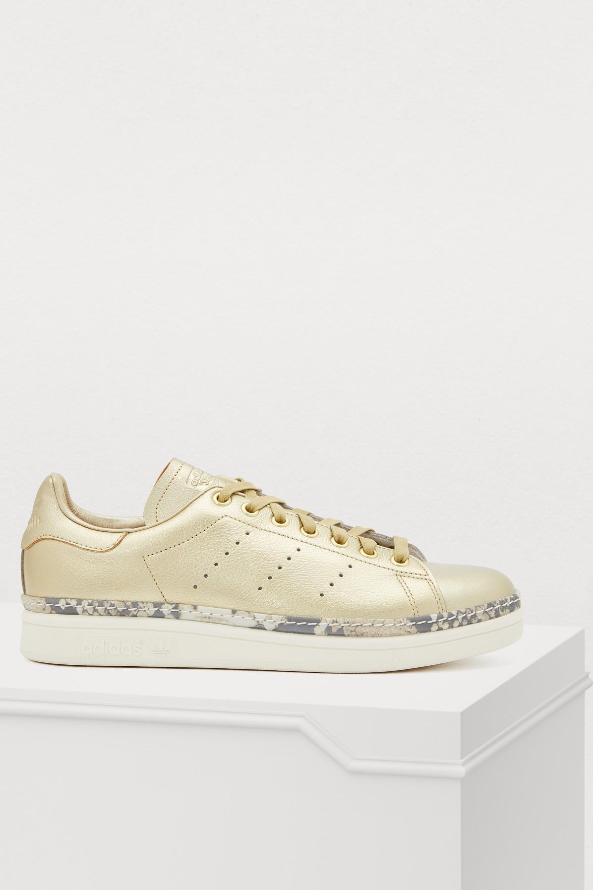 Adidas Originals Stan Smith New Bold Sneakers In Ormeta/Ormeta/Blacas