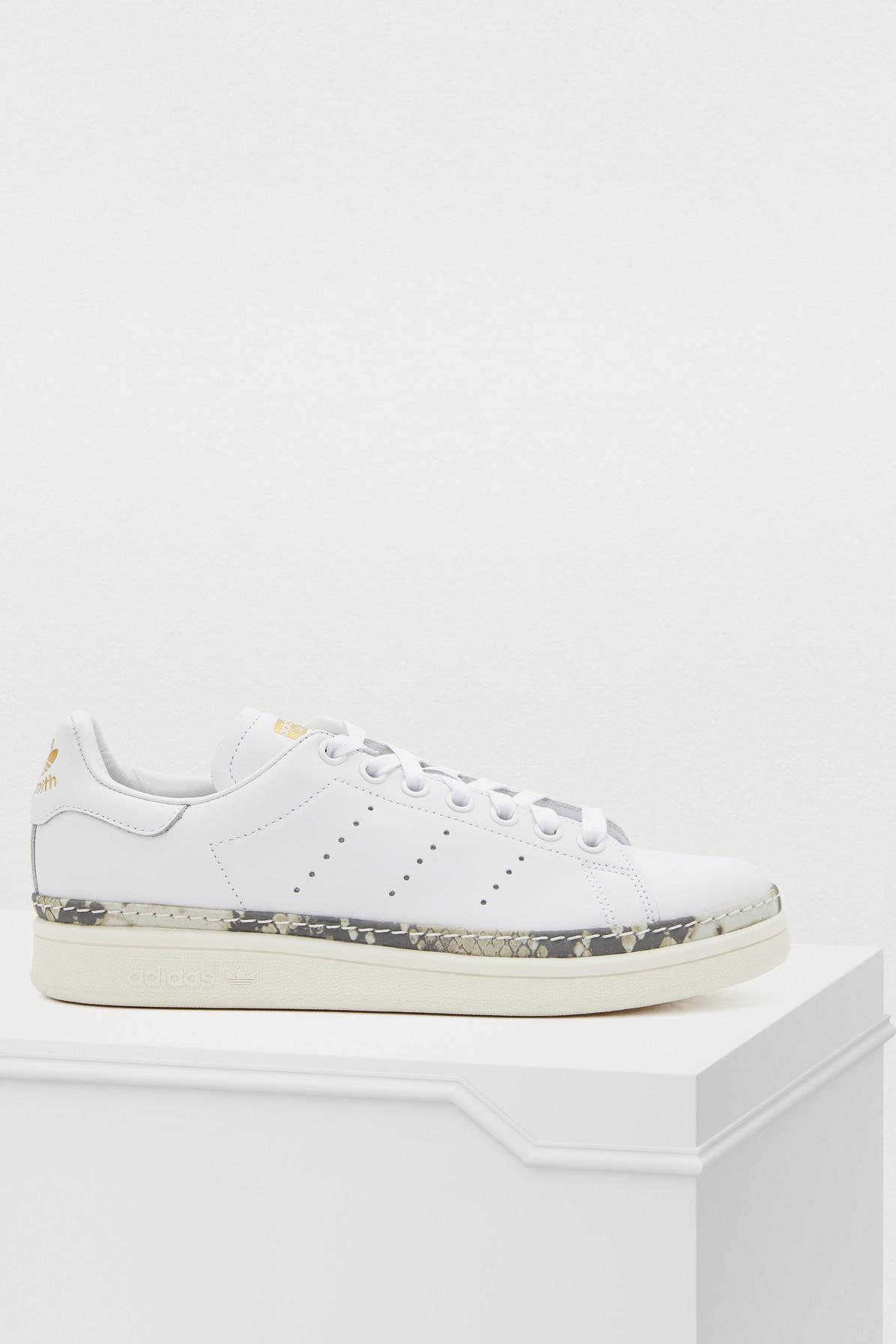 Adidas Originals Stan Smith New Bold Sneakers In Ftwbla/Blacas/Supcol