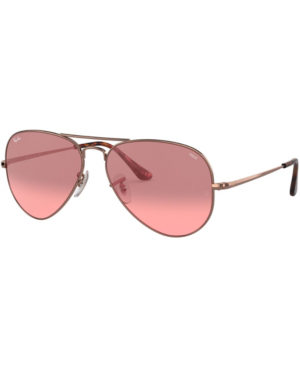bea5b4cedfbf Ray Ban Ray-Ban Women's Polarized Aviator Sunglasses, 58Mm In Copper/Photo  Red