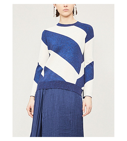Ted Baker Danyeil Knitted Jumper In Navy