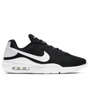 Nike Men's Oketo Air Max Casual Sneakers From Finish Line In Black/White