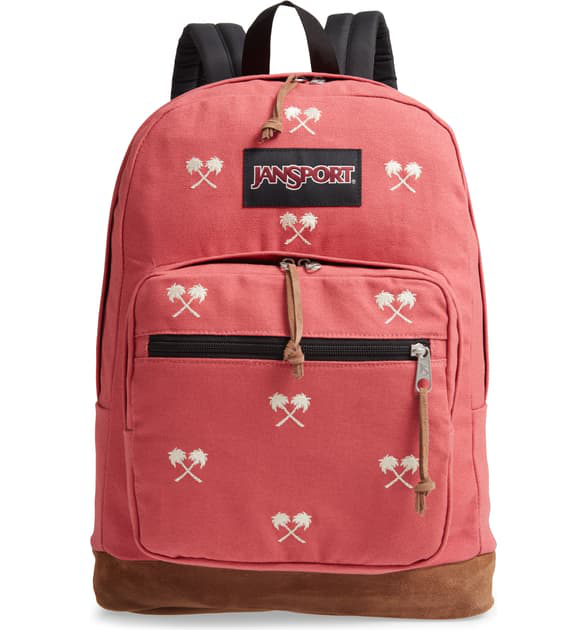 c5ce02dee Jansport Right Pack Expressions 15-Inch Laptop Backpack - Red In Palm  Embroidery