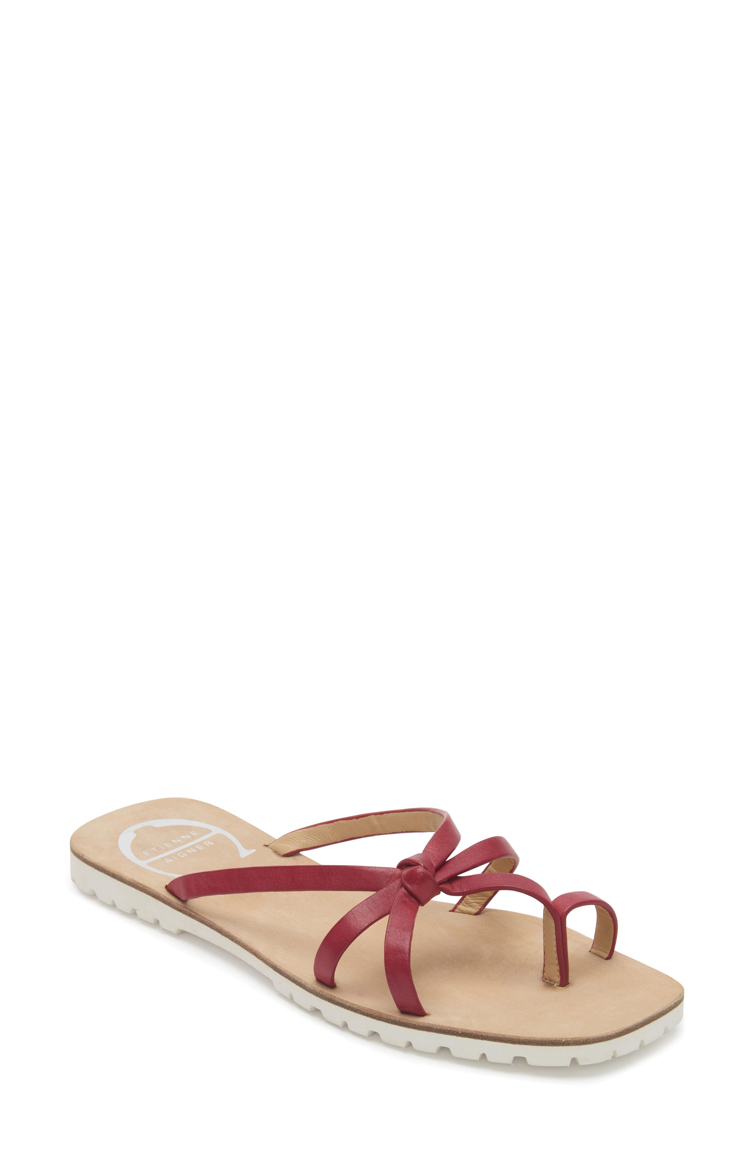 73f227867956 Etienne Aigner Malta Slide Sandal In Ruby Leather