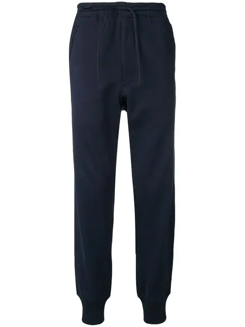 Y-3 Tapered Jogging Trousers In Blue