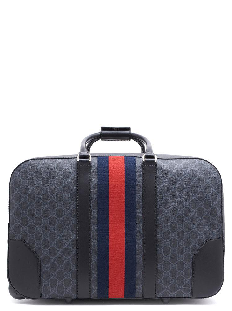 f623cde289 Gucci Gg Supreme Duffle Bag With Wheels In Black | ModeSens
