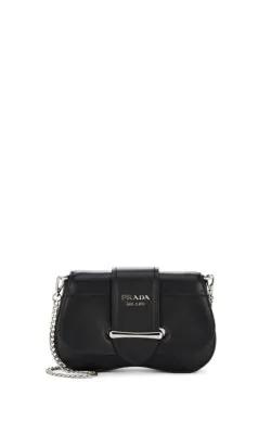 2a4c182ebb07b Prada Sidonie Convertible Leather Belt Bag In Black