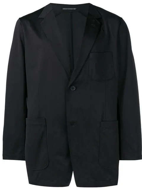 Yohji Yamamoto Classic Fitted Blazer In Black