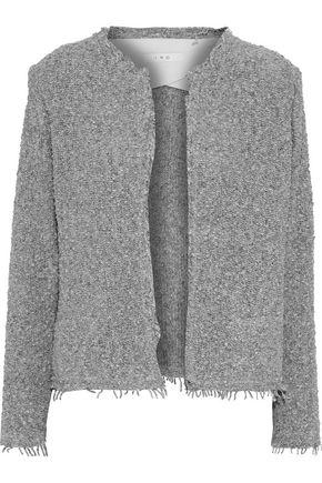 Iro Woman Shavani Frayed Cotton-Blend BouclÉ Jacket Gray