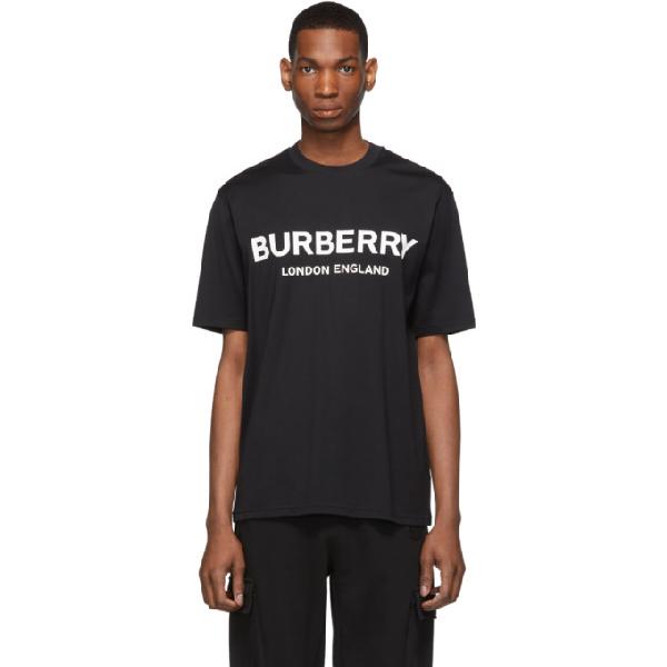 Burberry Logo-Print Cotton-Jersey T-Shirt - Black