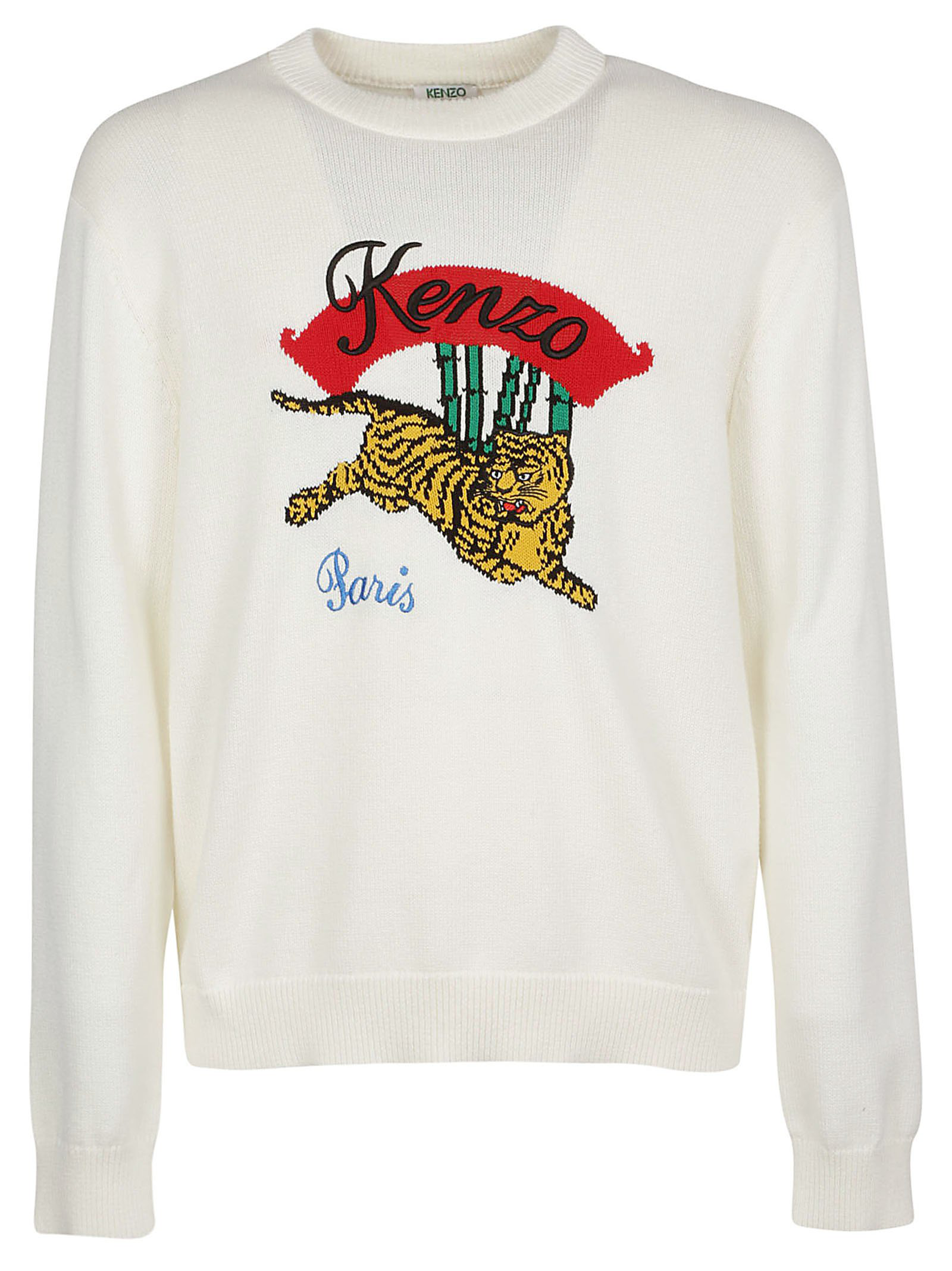 e765bb6be0 Kenzo Bamboo Tiger Pullover In White | ModeSens