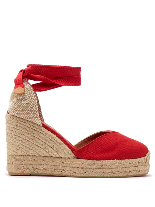 e5fd7573db0 Chiara 80 Canvas & Just Espadrille Platform Wedges in Red