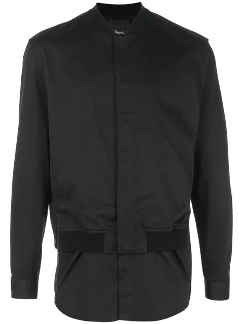 3.1 Phillip Lim Bomber Shirt Jacket In Black