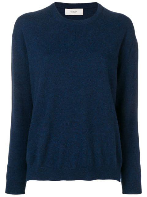 Pringle Of Scotland Knitted Jumper In Blue
