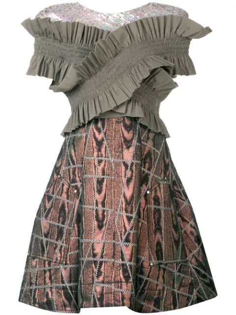 Talbot Runhof So Sorry Dress In Grey