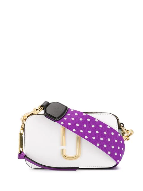 Marc Jacobs Snapshot Small Crossbody Bag In White