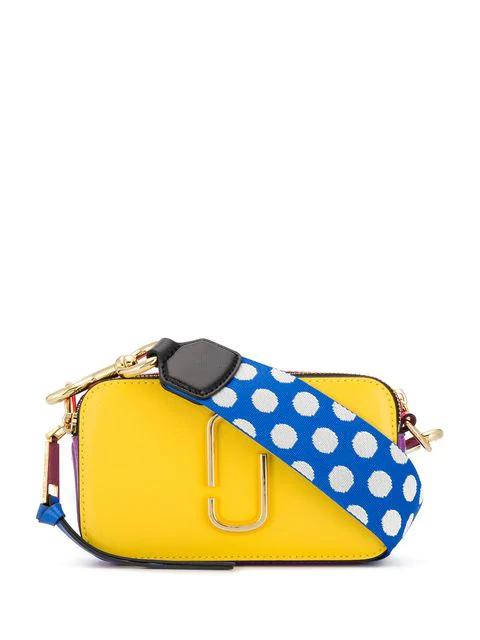 Marc Jacobs Snapshot Small Crossbody Bag In 794 Lemon Multi