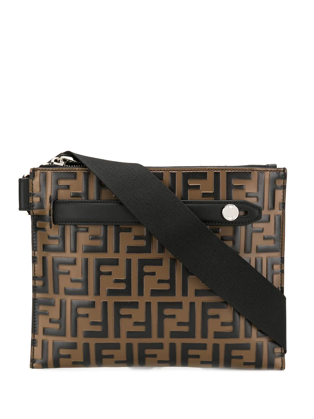 2cb7a43263 Fendi Ff Striped Belt Bag - Brown