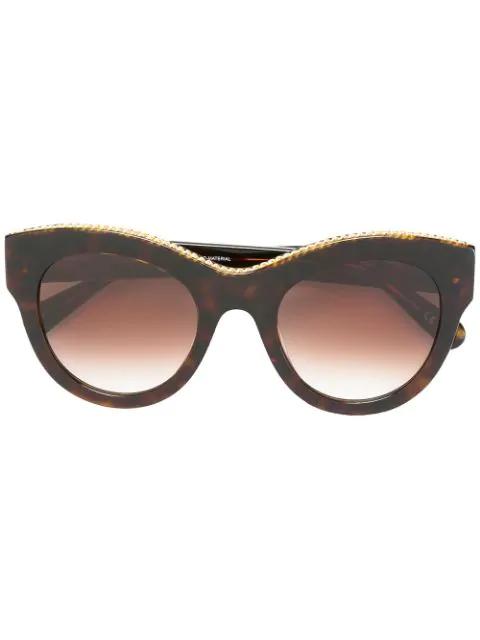 Stella Mccartney 'havana Oversized' Sunglasses