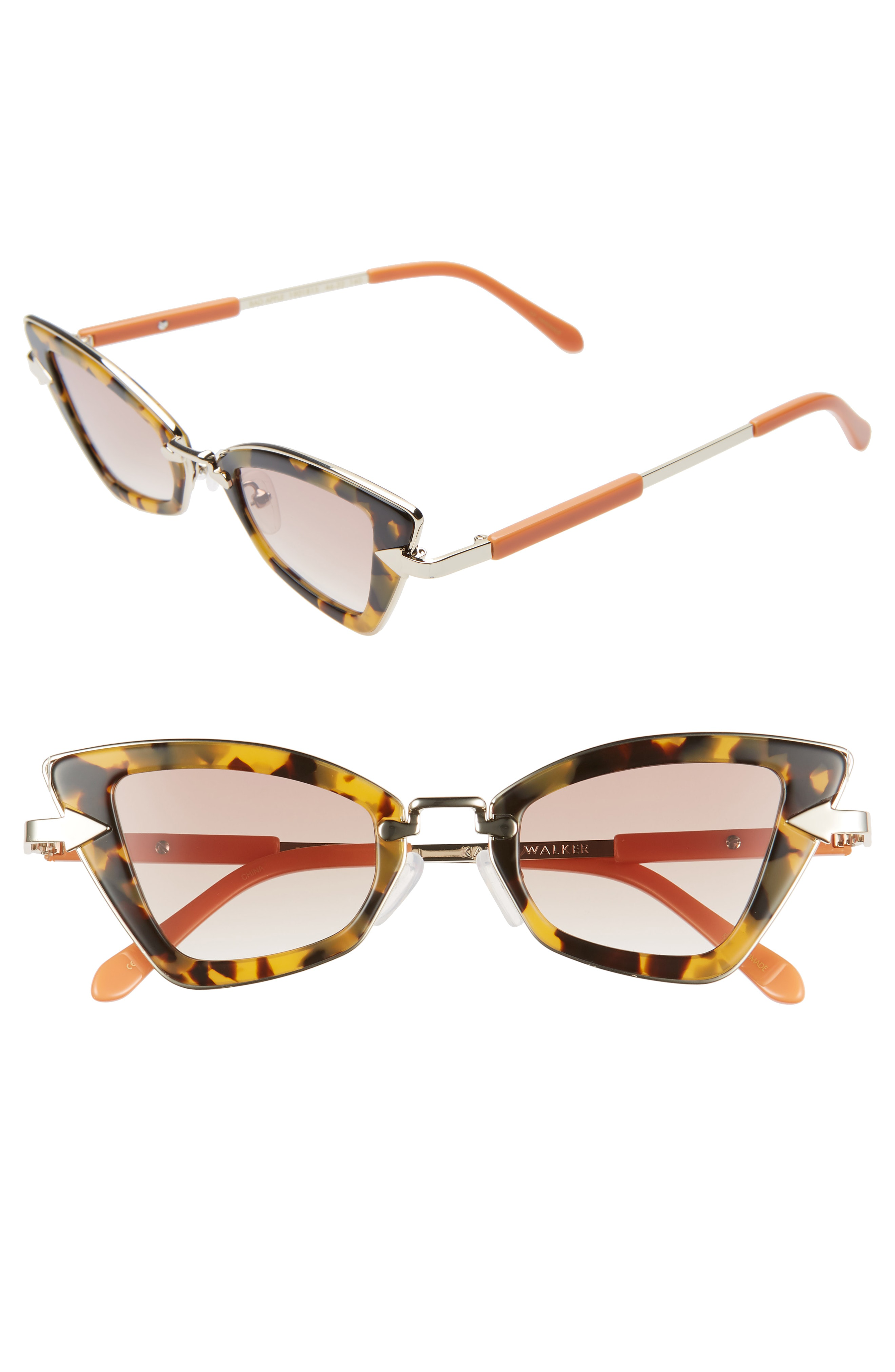 5d6cf79777b4 Karen Walker Bad Apple 46Mm Cat Eye Sunglasses - Crazy Tortoise  Brown  Gradient
