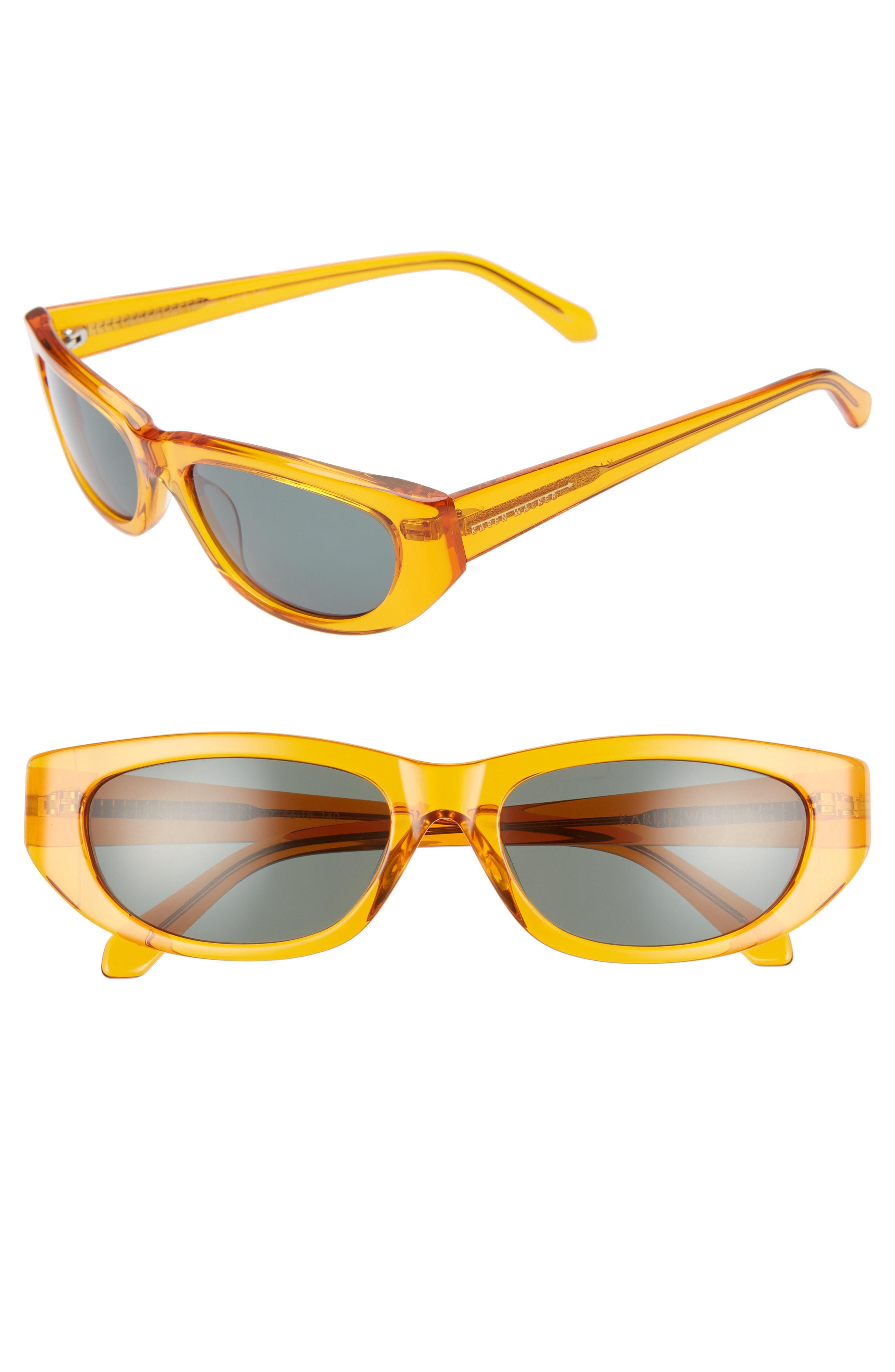 b96b7a79e8db Karen Walker 56Mm Oval Cat Eye Sunglasses - Electro Pumpkin/ Green ...