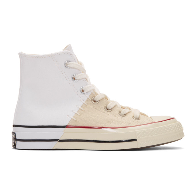966b4442d7491d Converse White Restructured Chuck 70 High-Top Sneakers