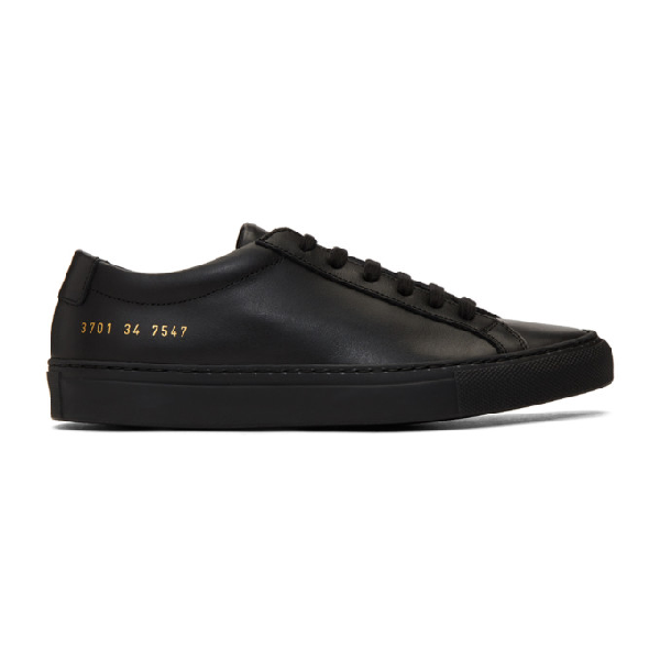 Common Projects Original Achilles Nappa Leather Sneakers, Black