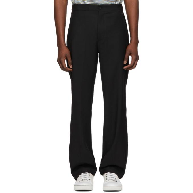 3351bcca Joseph Black Wool Comfort Edgar Trousers in 0010 Black