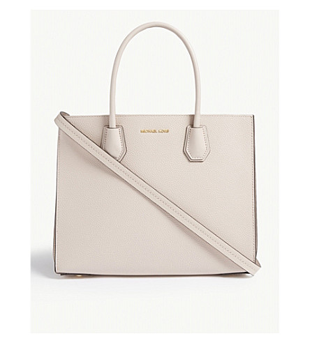 Michael Michael Kors Mercer Pebbled Leather Tote In Soft Pink
